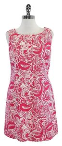 Lilly Pulitzer short dress Pink & White Textured Swiri Cotton on Tradesy