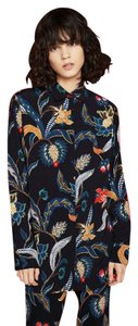 Maje Shirt Citrus Baroque Button Down Shirt black, blue, red