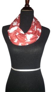 Other Red and White Infinity Scarf with Elephants