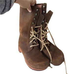 Dansko Boho Suede Lace-up brown Boots