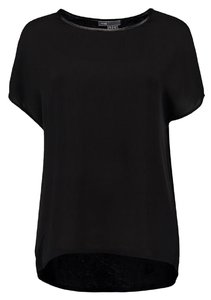 Vince Silk Leather Camuto Top Black