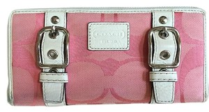Coach COACH PINK LARGE WALLET