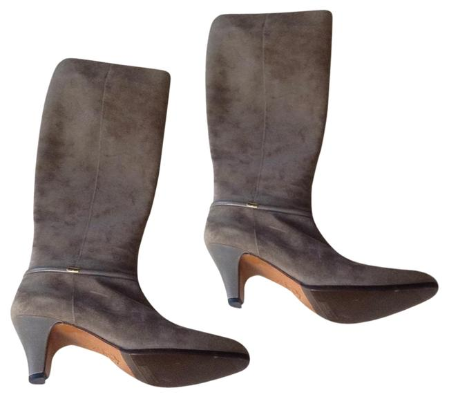 Item - Grey Suede Boots/Booties Size US 7.5 Narrow (Aa, N)