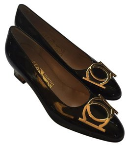 Salvatore Ferragamo Black patent Pumps