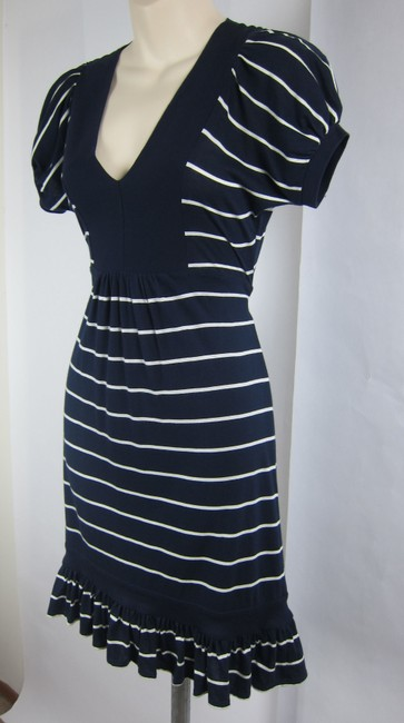 Juicy Couture short dress Blue, white Nautical Stripe Striped Sailor Babydoll on Tradesy