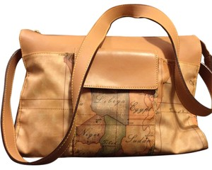 Alviero Martini Map Tote Shoulder Bag