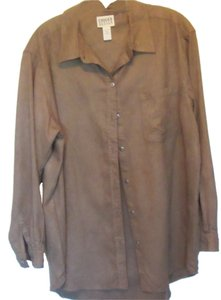 Chico's Top olive brown