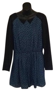BCBGeneration short dress Navy blue/teal polka dots on Tradesy