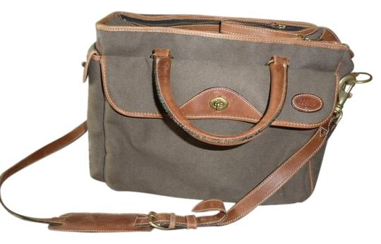 Preload https://item5.tradesy.com/images/brown-with-brown-leather-trim-canvas-weekendtravel-bag-1873489-0-0.jpg?width=440&height=440