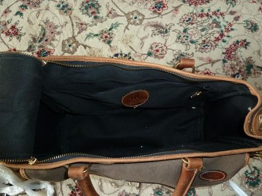Landrover Brown with brown leather trim Travel Bag