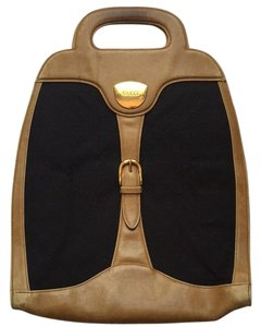 Gucci Satchel in Black And Tan