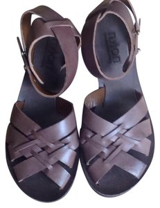 Nylon Brown, leather, natural leather, nude Sandals