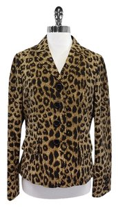 Moschino Leopard Print Button Down Jacket