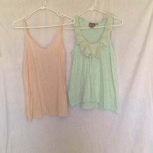 Anthropologie Top Mint and Cream