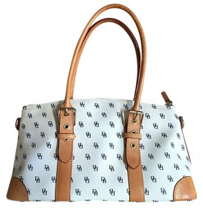 Dooney & Bourke White Satchel in White, Multi