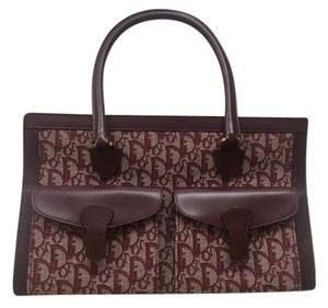 Dior Fendi Handbag Monogram Tote in Burgundy
