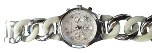 Michael Kors Michael Kors Silver tone and Bone link Watch
