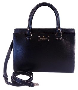Kate Spade Wellesley Durham Crossbody Satchel in Black