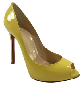 Christian Louboutin Patent Leather Pump Yellow Pumps
