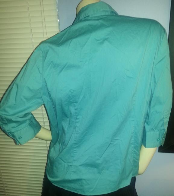 George Stretch Comfort Business Work Button Down Shirt green