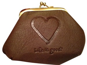 Life is Good Life Is Good brown coin purse - new in box