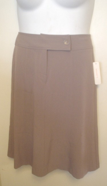 Item - Brown Mocha Straight Panel One Button Front Closure Skirt Size 2 (XS, 26)