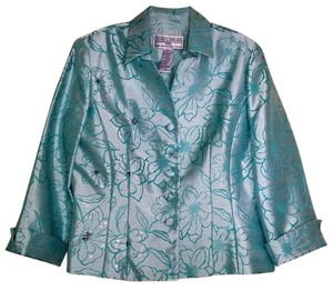 Jessica Howard 10P Teal Sateen with scattered sequins/beads embellishment