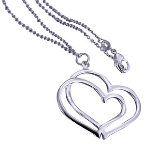 Other Sterling Silver, Marked 925 2 Hearts Intertwined In Time