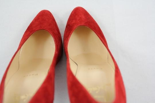 Christian Louboutin Yousra Suede 100mm Red Pumps