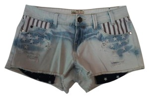 YMI Jeans Cut Off Shorts Red, White & Blue