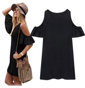 short dress Black Open Shoulder on Tradesy