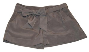 Express Dress Bow Satin Dress Shorts Taupe