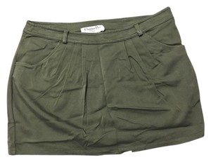 Dior Mini Skirt Army Green