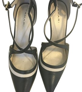 Tahari Black and off-white Pumps