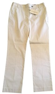 Burberry London New Straight Pants Pale Trench