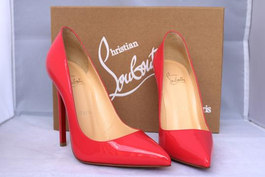 Christian Louboutin Patent Patent Leather Classic Pointed Toe coral Pumps
