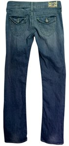 True Religion Tr Light Wash Straight Leg Jeans-Light Wash