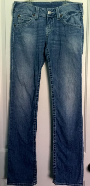 True Religion Tr Light Wash Straight Leg Jeans-Light Wash Image 6