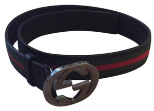 Gucci Web Belt With Interlocking G