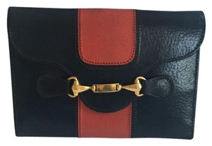 Gucci Wallet Navy / Red Clutch