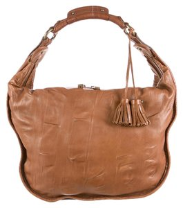 Marc Jacobs Leather Woven Strap Tassel Accents Sale Hobo Bag