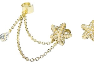 Jujubeads Gold Starfish Ear Cuff Set