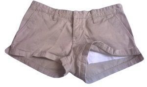 Hollister 100% Cotton Mini/Short Shorts Khaki