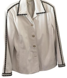 St. John Sport by Marie Gray White Leather Jacket
