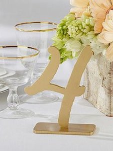 """Kate Aspen Gold """"Good As Classic Table Numbers Reception Decoration"""