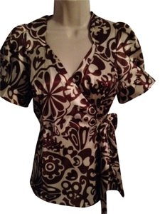 BCBGMAXAZRIA Top Brown Tan