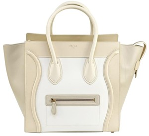 Céline Tote in Cream, White