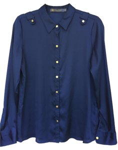 Outback Red Button Down Shirt Navy