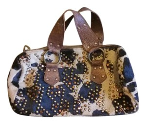 Betsey Johnson Studded Sequin Satchel in Animal print