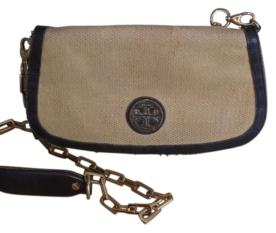 and Black Convertible Cross Body Straw Leather Bag Clutch Tory Burch Britton XxZnwYqPg4